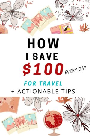 How to save money and cut your daily expenses so you can afford your dream trip. I'll show you the little changes you can make to help you to save money for your travels, without depriving yourself! Budgetting tips, how to make extra income tips and tricks, and money making advice. #budget #travelmore #savemoney #savemoneyfortravel