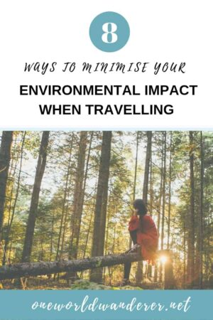 Travel can take a toll on the environment, but there are great eco-friendly alternatives to help reduce your impact. Keep reading to find the 8 sustainable travel hacks I use to protect the environment #zerowaste #plasticfree #sustainableliving #sustainabletravel