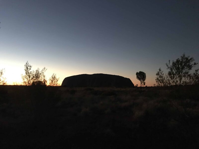 Sunrise at Kata-Tjuta and Uluru