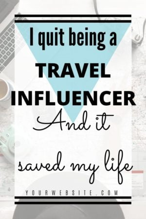 I quit being an Instagram travel influencer because the lifestyle wasn't healthy. Instagram and working as a content creator, influencer, or on Social Media was ruining my life. Instead, I quit, to focus on being a travel blogger. And it was the best decision I ever made! #travelinfluencer #instagraminfluencer #socialmedia