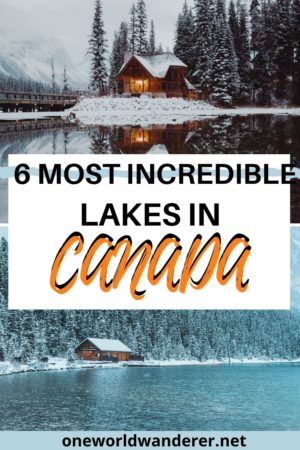 Canada boasts some of the best scenery in the world. When it comes to lakes with stunning mountainous backdrops, the Canadian Rockies are the most beautiful. Here are the top must-see lakes in Canada that I fell in love with when I went adventuring around Banff and Lake Louise. #canada #canadianlakes #nature #bucketlist