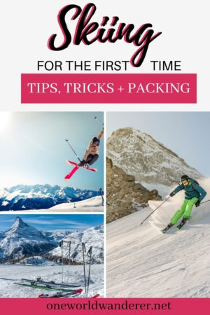 Planning your first ski trip? Want to know what to wear? What ski tips you need to know? This is the Ultimate Ski guide for Ski Beginners, adults, children, and anyone first time skiing. It will give you a ski packing list, apres-ski antics, first time skiing tips, tricks, and advice to ensure your winter getaway in the snow is unforgettable. #Ski #Skiing #SkiTrip #SkiTips