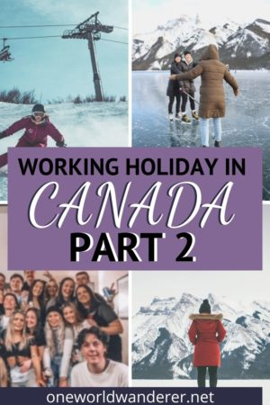 Doing a Working Holiday in Lake Louise, Canada means you can travel more, and get paid while living abroad. Working a winter ski season in Canada is the perfect way to use your working holiday visa and experience the world. Lake Louise is one of the best resorts to do a working holiday in, but a working holiday in a ski resort anywhere in Canada will be an incredible experience. Read on to find out what it's like and how to prepare and plan for moving abroad to Canada. #workingholiday #moveabroad #visa #canada #lakelouise