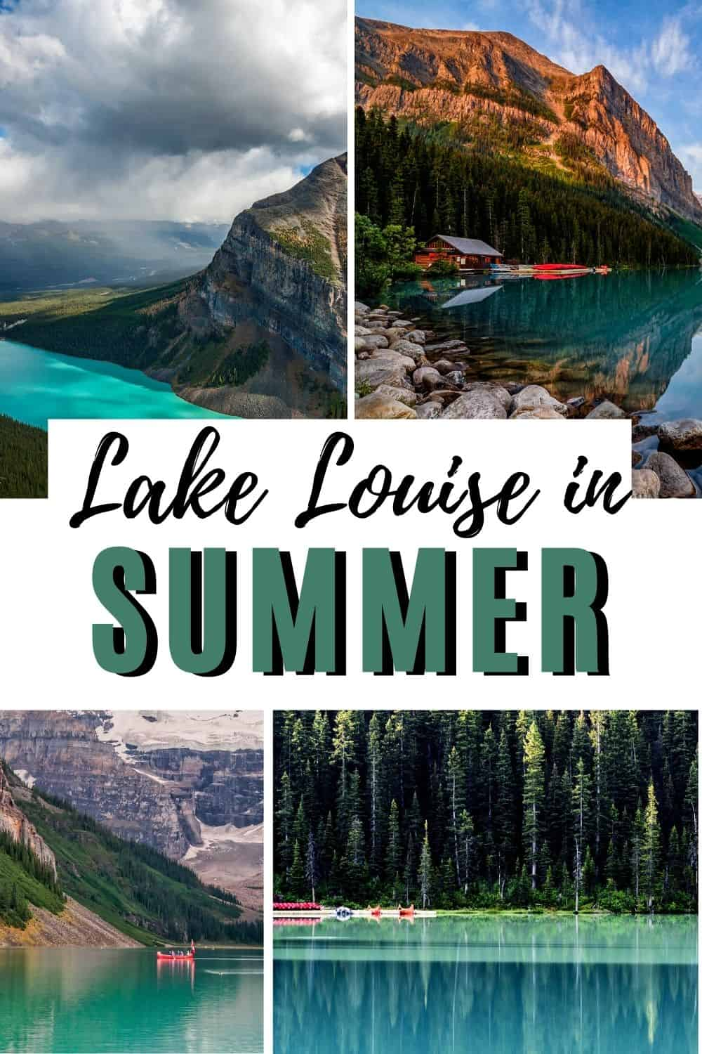 First-Timers guide to Summer in Lake Louise- all the things to do, what you need to know, and tips for the lake louise summer gondola, canoeing on the lake, and Banff National Park. #Lakelouise #banfflakelouise #summerinbanff #summerinlakelouise